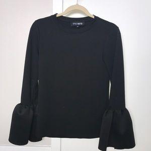 Style Mafia Black Puff Sleeve Top